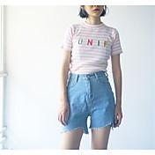 婦人向け シンプル ジーンズ パンツ,コットン マイクロエラスティック