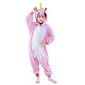 着ぐるみ パジャマ ペガサス Unicorn レオタード/着ぐるみ イベント/ホリデー 動物パジャマ ハロウィーン ピンク ブルー ゼブラプリント フリース きぐるみ ために 子供用 ハロウィーン クリスマス カーニバル こどもの日 新年