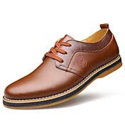 Hombre Zapatos Cuero Primavera Verano Otoño Invierno Confort Oxfords Paseo Con Cordón Para Boda Negro Marrón