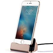 1 USB port US zásuvka Dokovací stanice / přenosná nabíječka s kabelem For iPhone Metal Look Cool(5V , 2,1A)