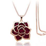Mujer Collares con colgantes Legierung Brillante Plateado La imitación de diamante Rosa Oro Plateado Moda Cajas y Bolsas de RegaloPlata
