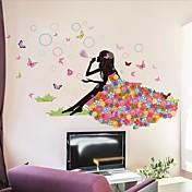 Tegneserie Wall Stickers Fly vægklistermærker Dekorative Mur Klistermærker / Bryllups klistermærker,PVC MaterialeKan fjernes / Kan