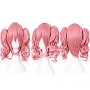Kvinder Pink Glat Med hestehale Syntetisk hår Lågløs Cosplay Paryk