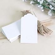 Estiquetas / Marcadores(Branco / Rosa / Castanho,Cartão de Papel Duro) -Tema rústico
