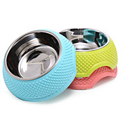 ネコ 犬 餌入れ/水入れ フィーダ ペット用 ボウル&摂食 携帯用 折り畳み式 イエロー ブルー ピンク
