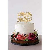 Decoración de Pasteles No personalizado Pareja Clásica Acrílico Matrimonio Flores Negro Tema Clásico 1 Caja de regalo