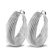 Náušnice - Kruhy Stříbro Sexy Módní Rozkošný Haç Inspirační Přizpůsobeno Hypoalergenní Multi-způsoby Wear Circle Shape Stříbrná Šperky