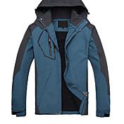 Hombre Chaqueta para senderismo Impermeable Mantiene abrigado Secado rápido Resistente al Viento Transpirable Tops para Camping y