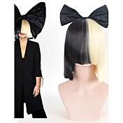 オンラインSIA生きているこのハロウィーンパーティーは半分黒作用しています; ちょう結びのアクセサリー衣装コスプレウィッグとブロンドのかつら