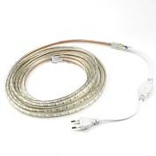 5m / 1pcs 20w 220v 5050 llevó flexibles cinta de cuerda tira luz xmas al aire libre impermeable jardín outdoor lightingeu plug eu