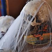 populares plástica divertida araña de algodón tela para decoración del partido de Halloween apoyos escena de la barra