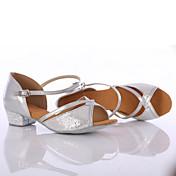 Zapatos de baile(Plata / Oro) -Latino / Zapatillas de Baile-Personalizables-Tacón Cuadrado