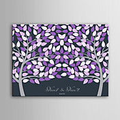 correo de inicio personalizada de la lona impresión de signatura marco invisible -purple dos árboles grandes
