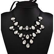 Mujer Collares con colgantes Collar Cristal Brillante Franela de Algodón Sexy Moda Negro Joyas Boda Fiesta Diario Casual Deportes 1 pieza