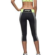 Pantalones de yoga Cortados 3/4 Medias/Corsario Leggings Medias/Mallas Largas Prendas de abajoSecado rápido Transpirable Compresión