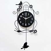 Moderno/Contemporáneo Casas Reloj de pared,Otros Acrílico / Metal / Madera 36*68cm Interior Reloj