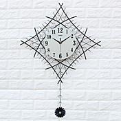 コンテンポラリー ハウス型 壁時計,その他 アクリル / ガラス / 鉄 / メタル 60*83cm 屋内 クロック