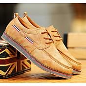 HombreConfort-Zapatillas de deporte-Casual-Microfibra-Negro / Marrón / Amarillo