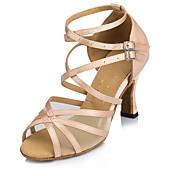 Sapatos de Dança(Preto / Vermelho / Branco) -Feminino-Personalizável-Latina / Moderna / Salsa