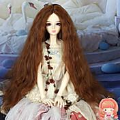 40センチメートル成人のための長い変態カーリーミディアム赤褐色の色の髪1/3 1/4 BJDのsd DZの人形のかつらアクセサリーません