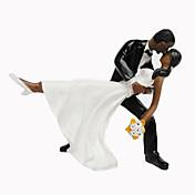 Figurky na svatební dort Nepřizpůsobeno Klasický pár Pryskyřice Svatba / Výročí / Párty pro nevěstu / Narozeniny ČernáPlážový motiv /