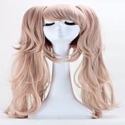 ハロウィーン休日のパーティーウィッグ65センチメートルアニメヘア純子はダブルポニーテールクリップに長い合成コスプレ毛のかつらを江ノ島