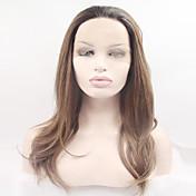 女性 ロング丈 非常に長いです ブロンド ナチュラルウェーブ ナチュラルヘアライン 合成 フロントレース ハロウィンウィッグ カーニバルウィッグ