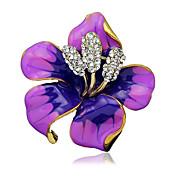 ženske modne legure / vještački dijamant cvijet broševi pin stranka / dnevno / vjenčanje šal isječke nakit 1pc