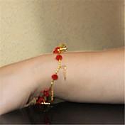 Mujer Cadenas y esclavas Cristal Perla Cristal Perla Artificial Legierung Moda Rojo Joyas 1 pieza