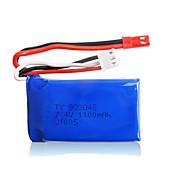 2pcs / pack wltoys JST lipo 7.4v 1100mah batería para k929 a979 a949 A959 A969 baterías de coche de alta velocidad original