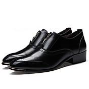 Hombre-Tacón Bajo-Confort-Zapatos de taco bajo y Slip-Ons-Informal-PU-