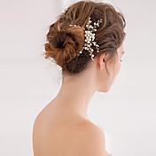 成人用 真珠 クリスタル かぶと-結婚式 パーティー コーム 1個