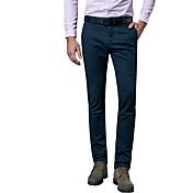 Hombre Tallas Grandes Corte Recto / Delgado Chinos / Empresa Pantalones,Un Color Casual/Diario / TrabajoCosecha / Sencillo / Chic de