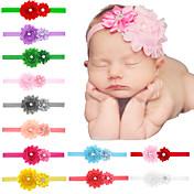 ヘアアクセサリー幼児ヘアバンドtodder層flowreと24PCS /セット赤ちゃんの女の子のみすぼらしい花のヘッドバンド