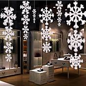 decoraciones de Navidad 1pcs alta calidad en tres dimensiones cadena de copos de nieve de avión