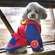 犬用品 コート パーカー 犬用ウェア キュート ファッション カジュアル/普段着 アニマル グレー レッド