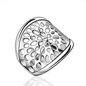指輪 日常 / カジュアル ジュエリー 純銀製 女性 ステートメントリング / 指輪 1個,7 / 8 シルバー