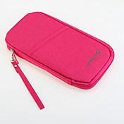 1 pieza Monedero de Viaje Billetera y Cartera Impermeable Portable Múltiples Funciones para Almacenamiento para Viaje Tejido-Naranja