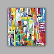 手描きの 抽象画 / 風景 油彩画,Modern / クラシック 1枚 キャンバス ハング塗装油絵 For ホームデコレーション