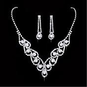 Šperky 1 x náhrdelník 1 x pár náušnic Imitace perly imitace drahokamu Svatební Párty Slitina Napodobenina perel Štras Postříbřené