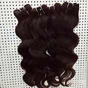 Cabello humano Cabello Brasileño Tejidos Humanos Cabello Ondulado Grande Extensiones de cabello 4 Piezas Negro