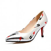 Mujer-Tacón Stiletto-Confort-Tacones-Oficina y Trabajo Vestido Informal-Semicuero-Negro Azul Rosa Oro Plata
