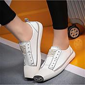 MujerOthers-Zapatos de taco bajo y Slip-Ons-Exterior-Semicuero-Negro / Blanco