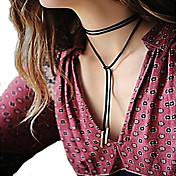 女性 ペンダントネックレス 綿ネル ファッション シンプルなスタイル ブラック ジュエリー パーティー Halloween 日常 カジュアル 1個