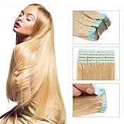 人間の髪の毛のエクステンション002で30〜50グラム/パック16-24inchブラジルのテープ人間の髪の毛の拡張子#24テープ