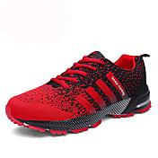 Hombre-Tacón Plano-Confort-Zapatillas de Atletismo-Informal Deporte-PU-Azul negro Negro / blanco