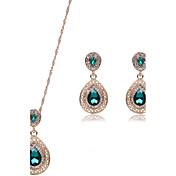 Šperky 1 x pár náušnic Náhrdelníky imitace Ruby Svatební Párty Slitina Štras 1Nastavte Dámské Černá Červená Zelená Svatební dary