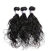 Tejidos Humanos Cabello Cabello Hindú Ondulado Natural 3 Piezas los tejidos de pelo