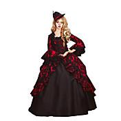 Jednodijelni/Haljine Gothic Lolita Classic/Tradicionalna Lolita Vintage inspirirano Elegantno Viktoriánus Rococo Princeza CosplayLolita
