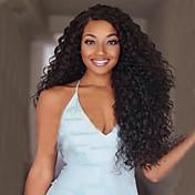 Mujer Pelucas sintéticas Largo Rizado Negro Parte lateral Peluca afroamericana Para mujeres de color Peluca natural Las pelucas del traje
